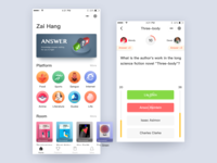 Knowledge quiz application color gamification 商标 设计 可视化 插图 app dribbble ux ui