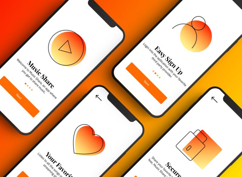iOS Onboarding Screens