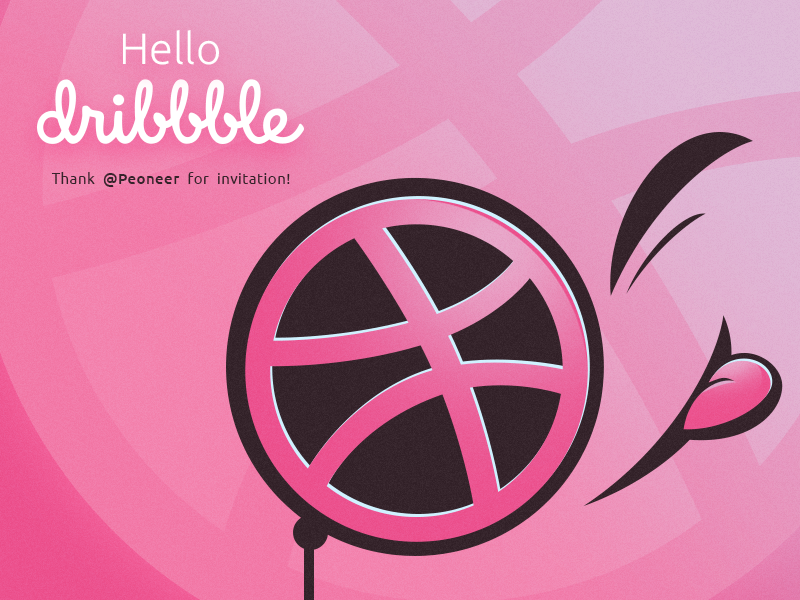 Hello Dribbble! dribbble hello debut
