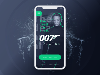 007: Spectre movie app concept