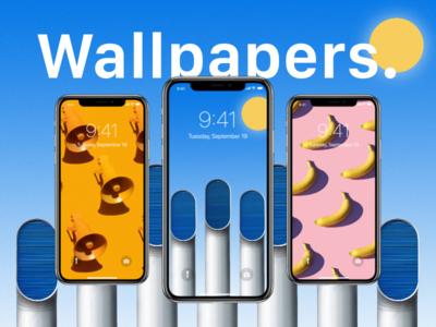 iPhone X Wallpapers kit app adobe demo design download iphone ui ux wallpapers xd