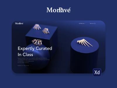 Monpave Landing Page app landing page adobe iphone xd download design ux demo ui