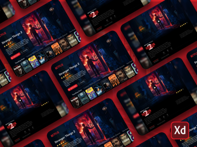 Netflix web landing page kit app adobe xd download design demo ux ui