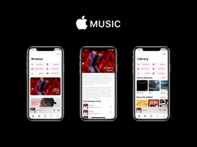 Apple Music ecommerce kit app iphone adobe xd download design demo ux ui