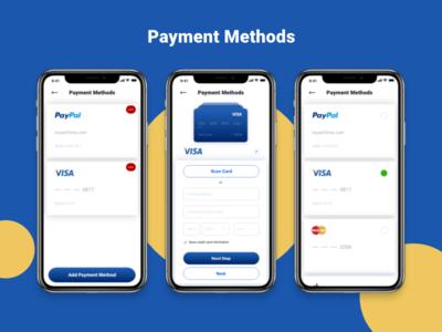 Payment Method ecommerce kit app iphone adobe xd download design demo ux ui