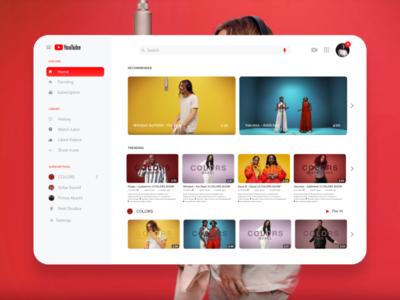 Youtube Redesign marketing art web landing page kit app adobe xd download design demo ux ui