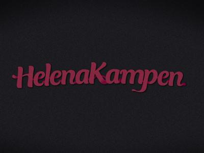 Type test logo helenakampen creamy type tipography 3d