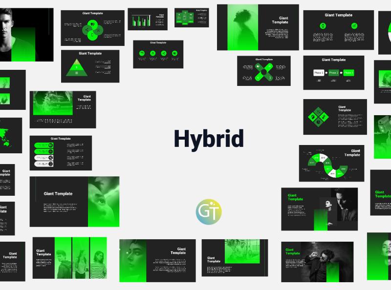 Dark Green Free Powerpoint Template