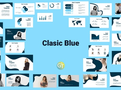 Classic Blue Free Powerpoint Template Presentation