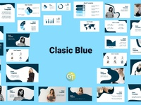 Classic Blue Free Powerpoint Template Presentation free powerpoint template ppt template powerpoint design powerpoint template powerpoint presentation