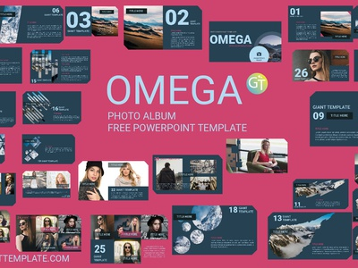 Free Powerpoint Template Photo Album