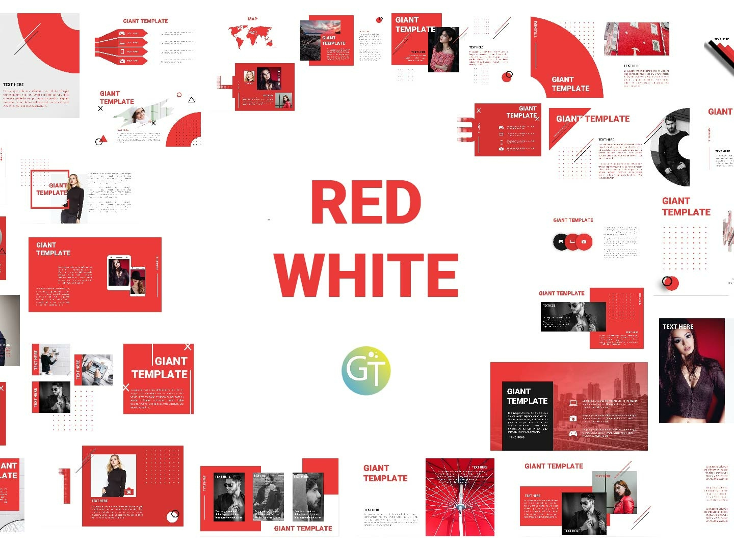 Red White - Free Powerpoint Template by Giant Template on