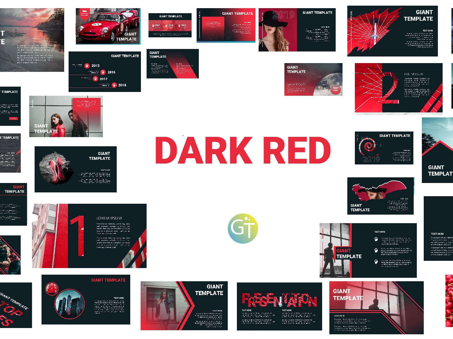 Dark Red Free Powerpoint Template By Giant Template On
