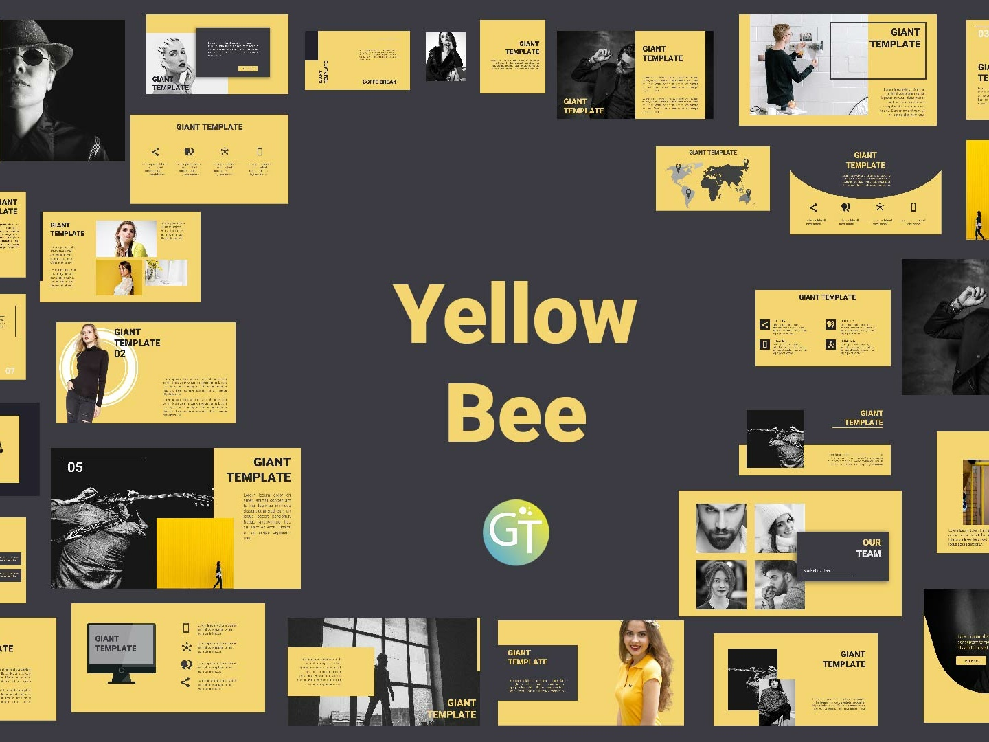 Yellowbee Free Powerpoint Template Free Download By Giant