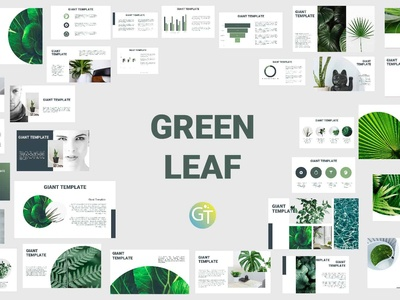 Green Leaf Free Downloadable Powerpoint Templates