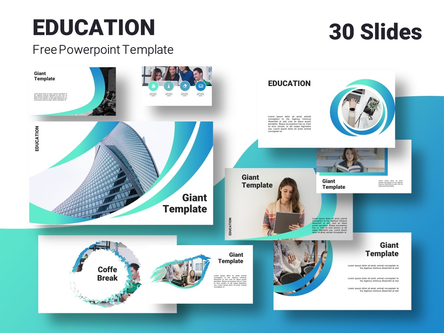 Education Free Powerpoint Template By Giant Template On Dribbble
