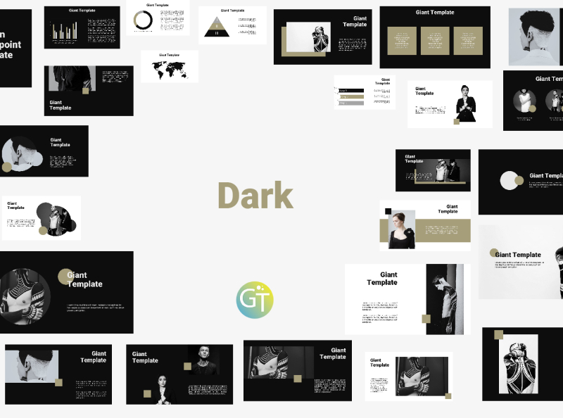 Black And White Free Powerpoint Template By Giant Template