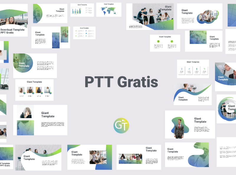 Download Template Ppt Gratis By Giant Template On Dribbble