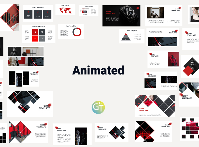 Free Animated Powerpoint Templates By Giant Template On Dribbble