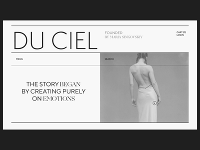 Lingerie Brand Homepage Interaction visual design minimal animated web after effects website video iteraction brand homepage layout web design web grid typography type