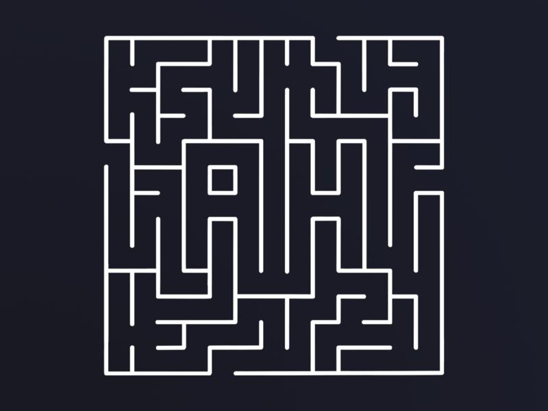 Freelance Maze Logo Design illustration maze logo