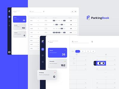 ParkingBook App uxui desktop cards webapp web list managment parking application app ux design clean ui