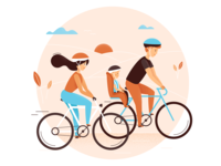 Bike trip illustration