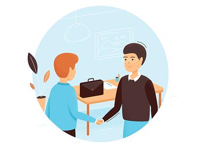 Business Illustration ilustrator handshake characer busienss team design vector illustration