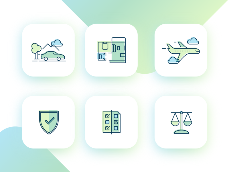 Insurance Agency Icons set icons set clean vector design uiue icons