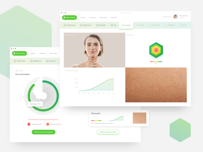 Health & Beauty System app application clean ui  ux ui app
