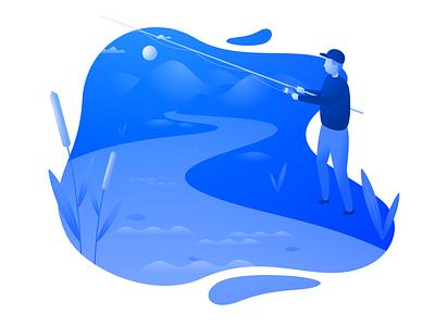 Fishing illustration fish sketch fishing vector illustration