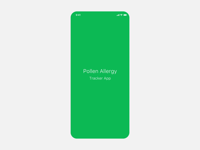 Pollen Allergy Tracker App #1 - animation login page dashboad interface interaction animation ux tracker app pollen allergy clean design app uiux ui
