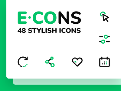 E-CONS line site web navigation e-commerce icons
