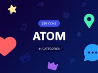 ATOM Icons set!
