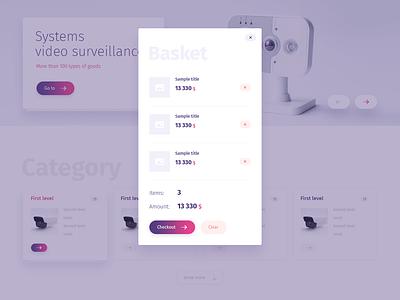 Basket ui e-commerce apps interace basket design web