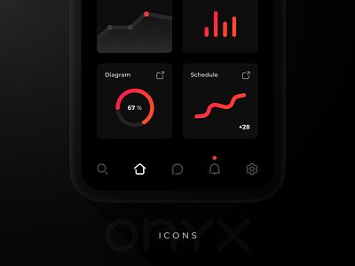 ONYX Icons web print form site e-commerce illustration ui website mobile design vector set interface apps icons