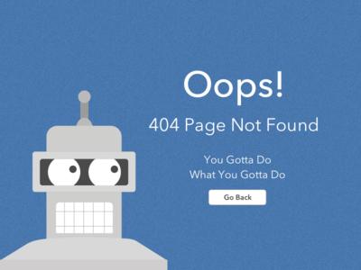 Daily UI #008 - 404 Error Page