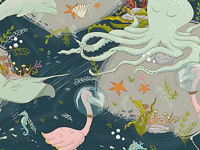 Mermazing Mermaids - Surface Pattern fabric design surface design pattern fabric surface pattern