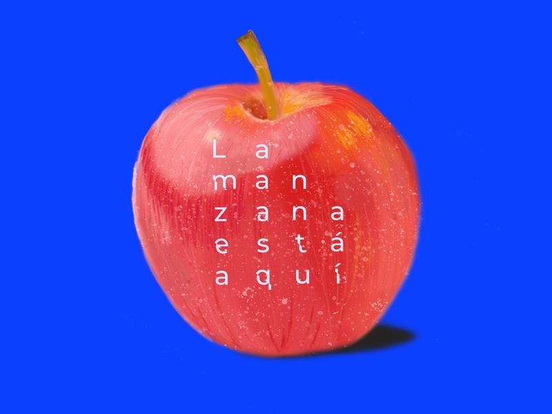 La manzana esta aqui
