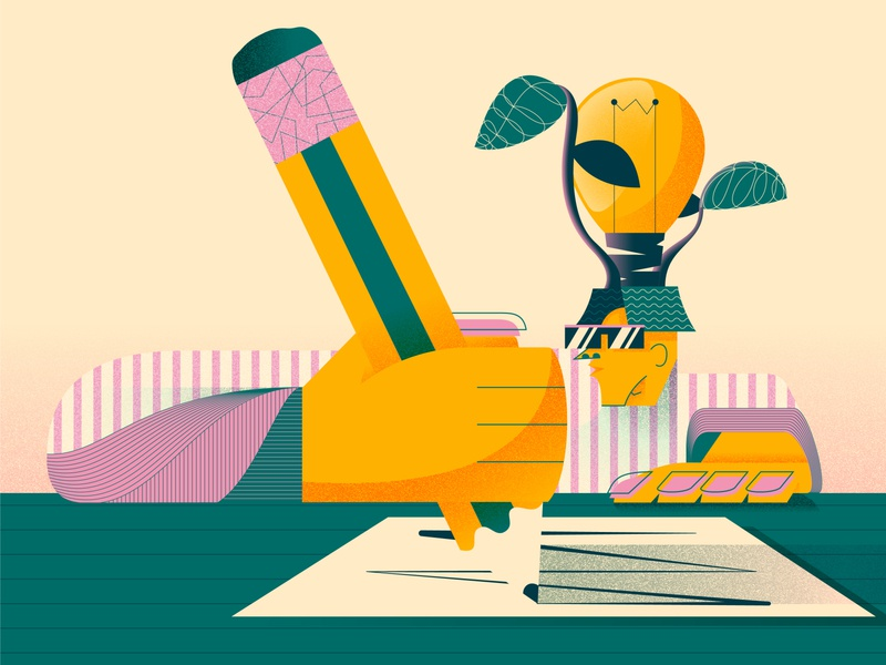 Literally me pencil idea writing drawing self-portrait studying cool adobeillustrator illustrator vector illustration design