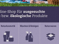 Icons for a German Online Store (natural food)