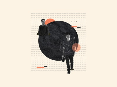 Man on hole #PhotoCollage collagephoto standing standing man editorial adobe indesign photoshop photo collage editorial layout design creative design collageart collage adobe