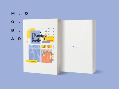 Moodboard Book Cover untidy drawing book adobe indesign creativity palette print design publication design colorful fashion design moodboard book cover