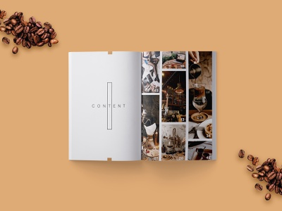 Neo Coffee Magazine Layout spread brown editorial layout editorial page page layout print roast coffee coffeeshop print design layout magazine magazine design adobe indesign