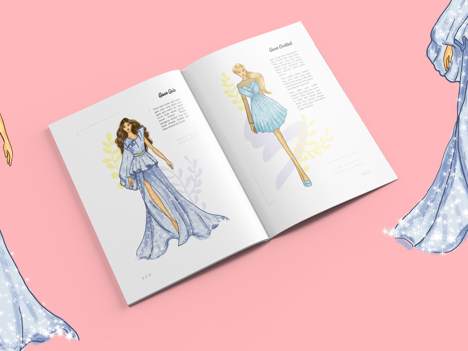 Basic Fashion Drawing Book By Umi Kaltsum For Visual Kreasi On Dribbble