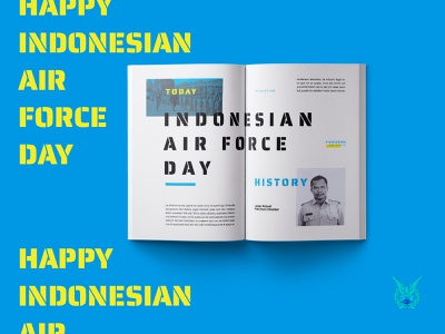 Indonesian Air Force Day history celebration design layout magazine design magazine print design book layout book adobe indesign editorial layout creative design