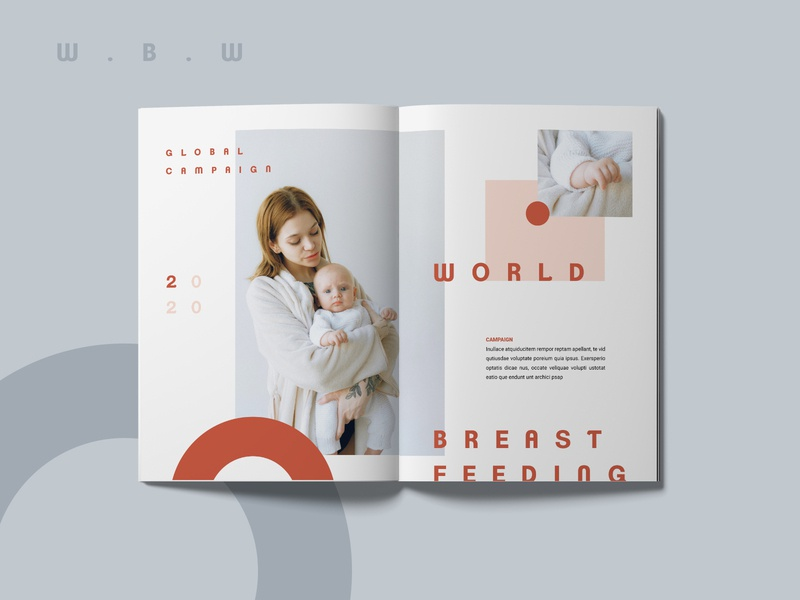 World Breastfeeding Week celebration magazine magazine design layout design layout print design editorial adobe indesign editorial layout creative design