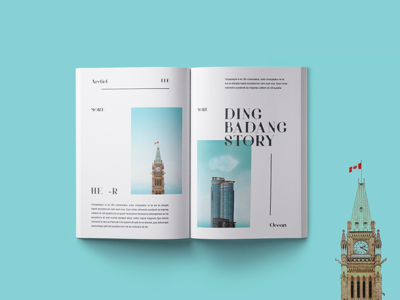 Badang Magazine Page minimal minimalist layout minimalism minimalist simple editorial design print layout magazine design magazine editorial adobe indesign editorial layout creative design
