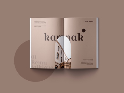 Kammak Magazine Layout autumn color beige magazine design magazine layout print design print layout editorial adobe indesign editorial layout creative design