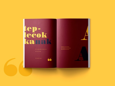 Teplecok Book Layout typesetting red and yellow book layout book design book layout design book print design design adobe indesign creative design
